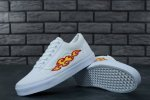 Женские кеды THRASHER x Vans Old Skool White Flame (white/fire) - 33z