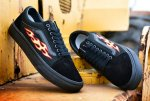 Мужские кеды THRASHER x Vans Old Skool Black (black/fire) - 29z