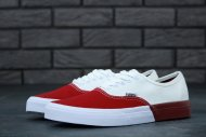 Женские кеды Vans Authentic (white/red) - 49z