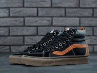 Мужские кеды Vans Sk8 Hi (black/brown/grey) - 89z