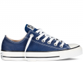 Женские синие низкие кеды Converse Chuck Taylor All Star Low (blue/white) - 09W