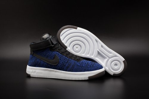 Кроссовки Nike Air Force 1 high Flyknit (navy/black) - 23Z