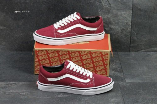 Мужские кеды Vans Old Skool (bordeaux) - 79z