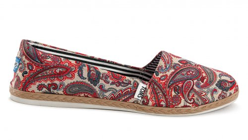 Женские кеды Toms canvas (grey/red/blue) - 06z