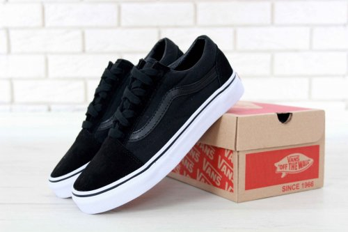 Женские кеды Vans Old Skool (black/beige) - 29w