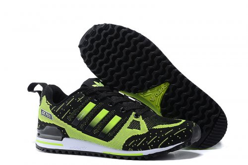 Кроссовки Adidas Оriginals ZX750 Flyknit (black/green) - 23Z