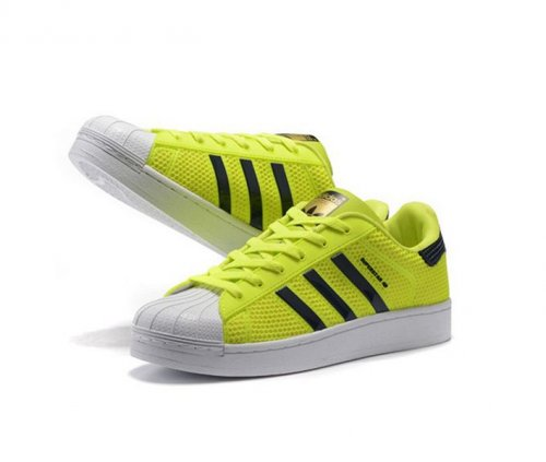 Женские кроссовки Adidas Originals Superstar Marble Fluorescent green - 18w