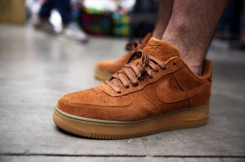 Кроссовки Nike Air Force 1 suede (brown/yellow) - 56Z