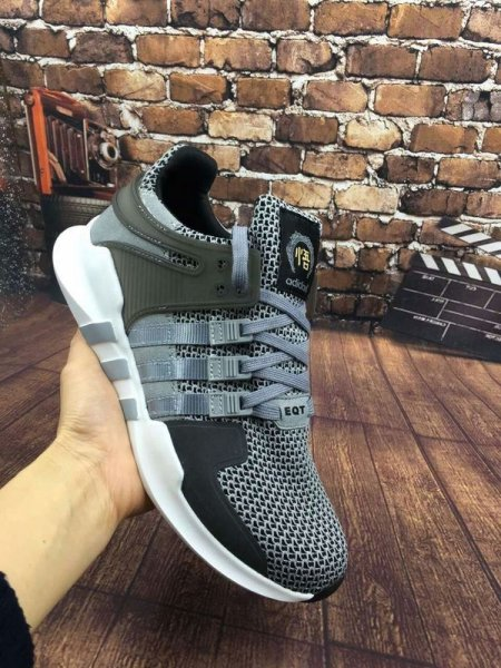Мужские кроссовки Adidas Originals EQT (dark grey/green/white) - 57z