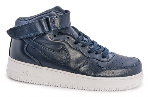 Кроссовки Nike Air Force 1 high leather (navy/white) - 59Z