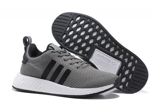 Мужские кроссовки Adidas Originals NMD Runner (grey/black/white) - 64z