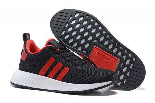 Мужские кроссовки Adidas Originals NMD Runner (black/red/white) - 65z