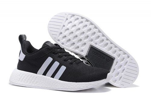 Мужские кроссовки Adidas Originals NMD Runner (black/grey/white) - 67z