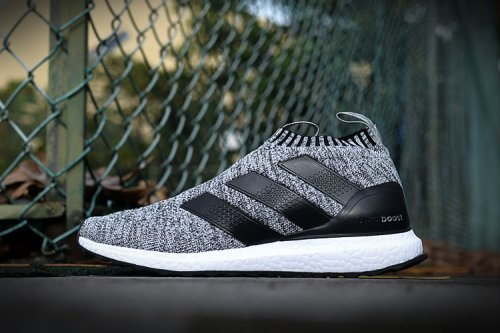 Кроссовки Adidas Ultra Mid (light grey/black/white) - 23z