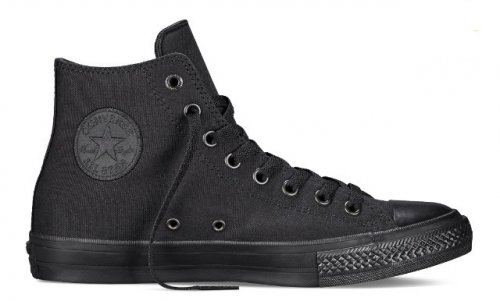 Женские высокие черные кеды Converse Chuck Taylor All Star II High (mono black) - 29w
