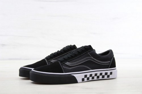 Женские кеды Vans Old Skool (chess black/white) - 46w