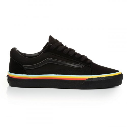 Женские кеды Vans Old Skool (black/green/yellow/red) - 48w