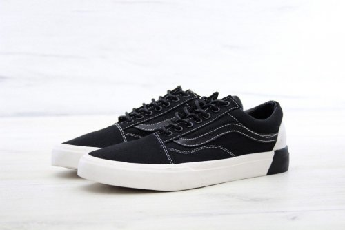 Женские кеды Vans Old Skool (black/white/beige) - 49w