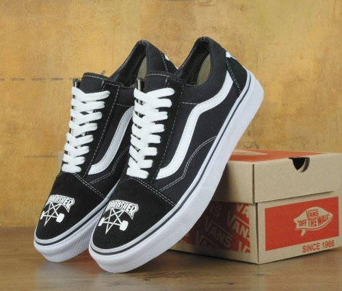 Мужские кеды THRASHER x Vans Old Skool Black (black/white) - 34z