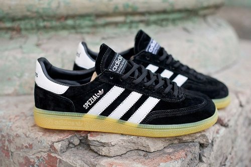 Мужские кроссовки Adidas Originals Spezial (black/yellow) - 27z