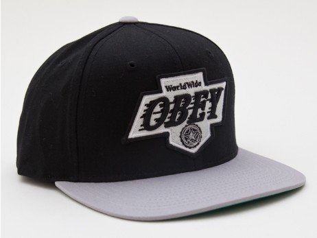 Черно-серая кепка Obey Snapback (black/grey) - 02K