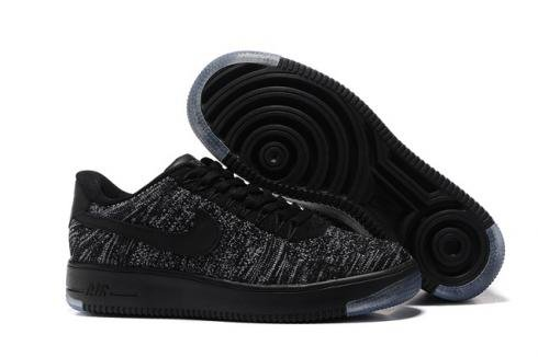 Кроссовки Nike Air Force 1 Ultra Flyknit (black/grey) - 57Z