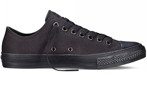 Женские низкие черные кеды Converse Chuck Taylor All Star II Low (mono black) - 30w