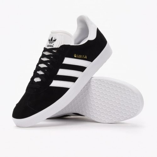 Черные кроссовки Adidas Gazelle Indoor 2018 (black/white) - 29Z